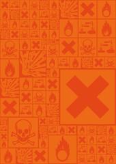 A set of hazardous symbols (vector illustration)