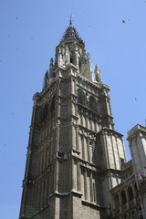Gothic cathedral bell tower- Toledo