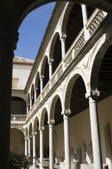 Toledo - Renaissance courtyard of Santa Cruz Museum
