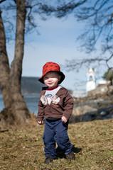Cute boy walking