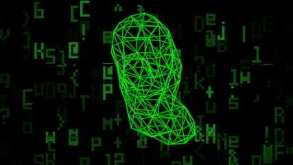 Computer virus abstract animation