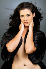 Beautiful ethnic brunette woman