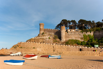 castle at the Spanish coast