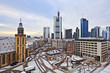 view to skyline of Frankfurt with Hauptwache and skyscraper ear