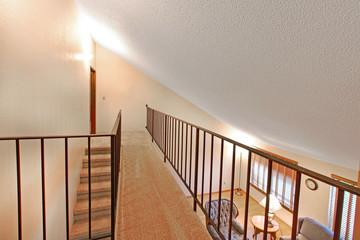 Staircase, bridge, upstairs modern house