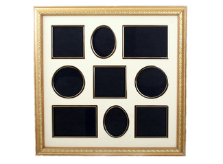 picture frame for collection of 9 small pictures