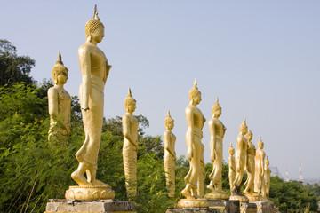 Many statues of Buddha in Hua Hin, Thailand