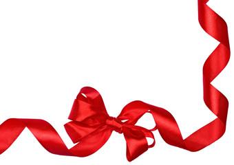 Red Bow ribbons border