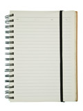 White page spiral notebook with elastic poster