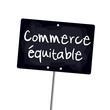 "Ardoise ""commerce équitable"""