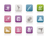 mafia and organized criminality activity icons
