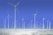 Windkrafträder in gefrorenem Wasser, Offshorepark