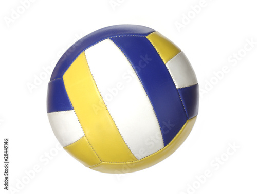 Color volleyball ball isolated on white