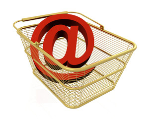 Mail sign in the basket