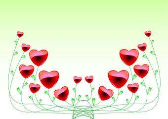ハートの花2
