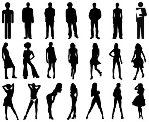 people ,silhouetten,