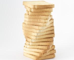 Torre de pan tostado