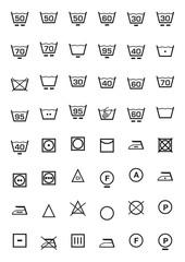 set icone lavaggio e lavatrice