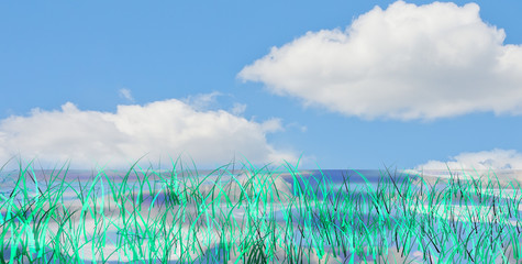 Synthetic green landscape