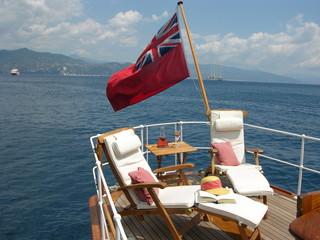 Classic Yacht aft deck