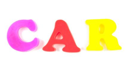 car written in fridge magnets