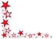 Rahmen - rote Sterne