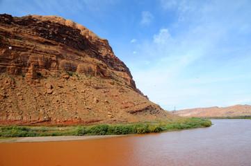 Moab Portal and Rim with Colorado River beneath