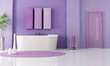 purple modern bathroom