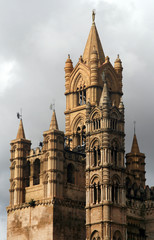 Famous Cathedral of Palermo in Sicily