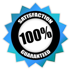 "Star-shaped Sticker ""Satisfaction 100% Guaranteed"""