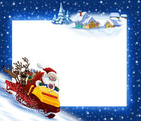 New Year's background Santa Claus