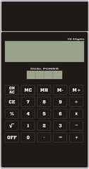 calculator black