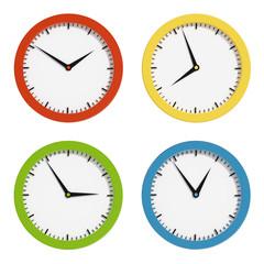 Multi-colored clocks