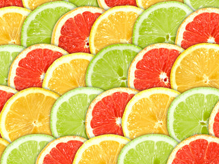 Background with citrus-fruit slices