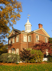 Historic Carpenters Hall in the Fall