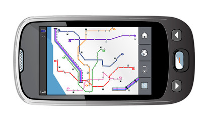 Stock Photo: Illustration of a Portable GPS for a car