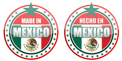 made in Mexico stamp isolated over a white background.