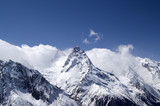 Hight Mountains. Caucasus, Dombay. poster