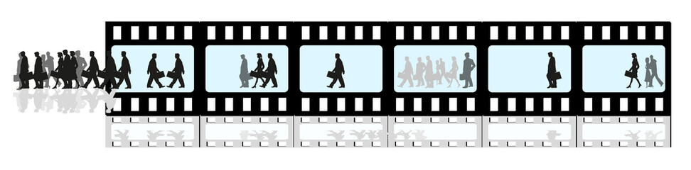 geschäftsleute in bewegung - film