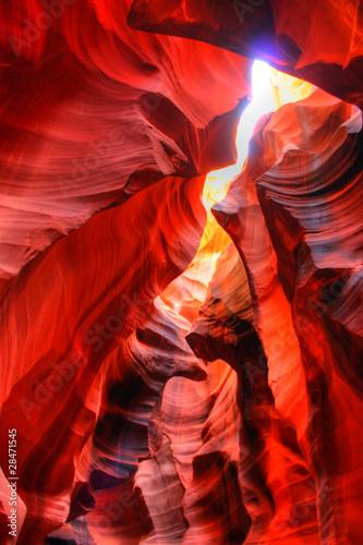 Poster Oranje eclat Antelope Canyon - Page