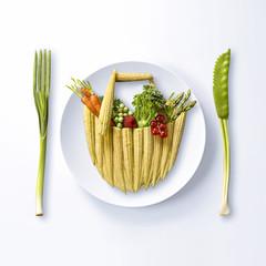 Panier du marché formé de légumes