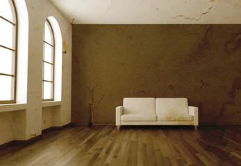 3D Wohnung Rendering antik