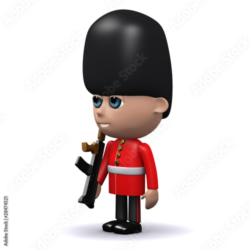 3d Coldstream Guard at attention