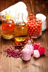 Aromatherapy - essential oils and bath salt