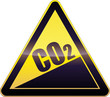 Yellow CO2 Emissions Increase Warning Sign