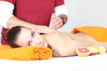 Frucht Massage