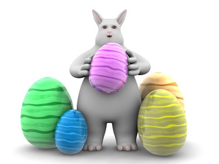 the bunny - easter eggs