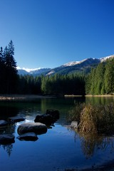 Mountain lake - Vrbicke lake, Low Tatras, Slovakia