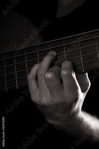Diminished seventh chord (A-dim7), six-string bass guitar
