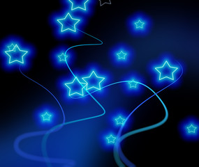 bright blue stars background